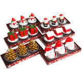3Pcs 2020 Christmas Candles Santa House Snowman Christmas Tree Paraffin Candles Wedding Party Candles Decor Light