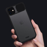 MOFI for iPhone 11 Case Anti-Hacker Peeping Slide Lens Cover Shockproof Anti-Scratch Translucent Matte Silicone Protective Case