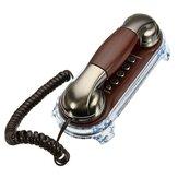 Telefones retros antigos fixados na parede da telefone fixo da linha telefônica do telefone para o hotel do escritório domiciliário