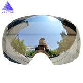 VEKTÖR Kayak Gözlükleri Değiştirilebilir Plus Lens Kırmızı UV400 Anti Sis Kar Kayak Gözlükler