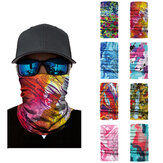 3D Digital Oil Painting Style Summer UV Protection Face Mask Anti Air Pollution Face Scarf Reusable Neck Scarf for Sport Outdoor Fishing Cycling