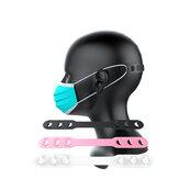 Bakeey Colorful Decompress antiscivolo regolabile terza marcia Soft Silicone Faccia Maschera Prolunga Gancio Fibbia Adatta per bambino adulto