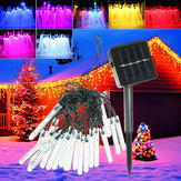 4.8M 20 LED Bubble Icicle Periler String Işık Solar Güç Noel Partisi Lamba
