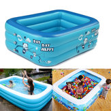 180cm Thicken Inflatable Swimming Pool Rectangle Baby Children Square Bathing Tub 3 Layer Pool Summer Water Fun Play Toy