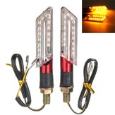 2szt LED Turn Signal Motorcycle Light Amber Blade Lamp Indicator Blinker