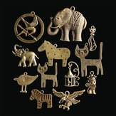12 sztuk Zodiac Vintage DIY Antique Bronze Pendant Ornaments