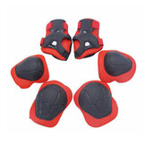 BIKIGHT 6pcs/set Children Sports Protective Gear Safety Knee Elbow Palm Guards Equipment For Bike Cycling