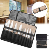 Chef Cutter Tool Bag Roll Bag Carry Case Bag Kitchen Portable Storage Black Coffee