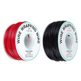 30M 22AWG Black/Red UL 1007 Cable Line PCB Wire Tinned Copper Solid Wires OK Line Electrical Wire DIY