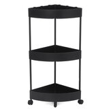 3/4/5 Tier Home Kitchen Trolley Rack Holder Rolling Cart Storage Shelf Organizer