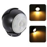 3W 5 LED 360 ° Otomatik Hareket Sensör Gece Lambası Kablosuz Batarya PIR Kabin Lamba