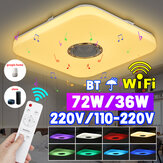 72 / 36W Smart RGB LED-plafondverlichting Lamp Draadloze afstandsbediening Bluetooth APP-bediening