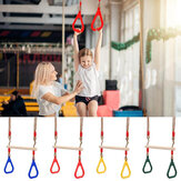 Wooden Hand Rings Climbing Swing Seat Toy Outdoor Sports Fitness Children Supplies Disc Monkey Kids Garden Accessories Toys Gift