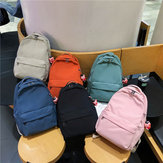Season New Fashion Casual Nylon Solid Color Student Backpack Outdoor Bag With Pendant