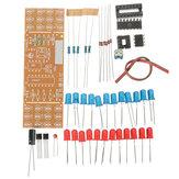 DIY İki Renkli LED Yanıp Sönen Işıklı Elektronik Kit Devre Kartı