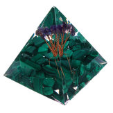 Himalaje Stone Orgone Pyramid Generator energii Tower Home Reiki Healing Crystal Decorations