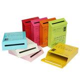 Retro Metal Lockable Post Mail Caja Home Balcony Garden Letter Buzón de almacenamiento Montado en la pared