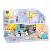 Casa delle bambole fai-da-te Casa attica creativa fatta a mano 3d Assemblaggio di edifici Modello di assemblaggio Giocattolo Regalo di compleanno