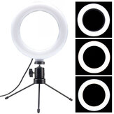 LED Ring Light Lamp 6 Inch Dimmable Fill Light with Desktop Tripod Stand for Youtube Tiktok Makeup Live Stream Vlog
