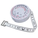 مؤشر كتلة الجسم مؤشر كتلة الجسم قابل للسحب 150cm قياس حاسبة حمية فقدان الوزن شريط التدابير أدوات