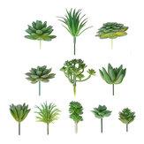 11Pcs / सेट कृत्रिम रसीला फूल पुष्प पौधे होम गार्डन DIY लैंडस्केप सजावट