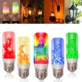 4 modos 78LED Efeito de chama Lâmpada de fogo Lâmpada do sensor de gravidade Lâmpada de lâmpada piscando Iluminação de jardim Decoração externa