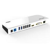 Wavlink Universal USB 3.0 Docking Station para laptop Dual Video Display Monitor RJ45 Gigabit Ethernet Suporte 1080P DVI / HDMI