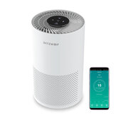 BlitzWolf®BW-AP1 Smart Air Purifier 220m³/h CADR 26dB Quiet Air Cleaner,Removes Allergies, Smoke, Dust, Mold, Pollen, Pet Dander, Activated Carbon Eliminates Odors and Deodorizes HEPA Filter with Night Light APP Remote Control