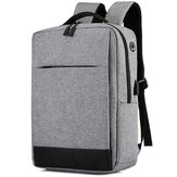 Oxford Cloth Multipurpose Laptop Bolsa Mochila de grande capacidade Casual Port USB Business