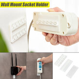 Self Adhesive Power Strip Holder Fixator Wall Mounted Socket Cable Fixer