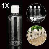 100ml garrafas de plástico transparente para viagem loção cosmética recipiente com tampas brancas