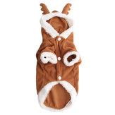 Hond Puppy Kerstmis Mooie herten trui Hoodie Jumpsuit jas kleding uitloper jassen