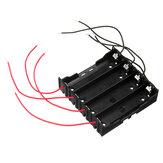 Suporte DIY 4 Slot 18650 Bateria com 8 cabos