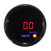 Calibro di tensione di volt 2inch 52mm 8-18V Digital Blue + Red LED Display Misuratore di faccia nera