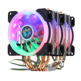 4Pin Three Fans 4-Heatpipes Colorful Backlit CPU Koelventilator Koeler Koellichaam voor Intel AMD