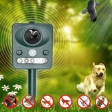 Zonne-energie Animal Repeller Outdoor met LED Flash Licht Ultrasone Hond Ratten Repellent Muizen Motion Sensor Afschrikmiddel Apparaat