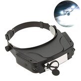Magnifying Glass For Reading Magnifier Headband Multi-lens Multifunctional LED Light Head-mounted Acrylic Eye Magnifier
