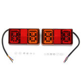 12V LED Car Indicator Tail Light Brake Stop Lamp for Marine Trailer Camper Caravan