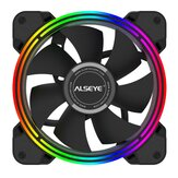 ALSEYE HALO PC Cooling Fan 4 Pin PWM 120mm Static LED RGB Computer Fan for Case and CPU Fan Replacement
