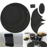 Rullante bassi 10pcs sound off silenziatore mute set pratica pad in gomma drumming
