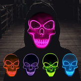 Scheletro di Halloween Maschera LED Scary EL-Wire Maschera Light Up Festival Costume Cosplay Forniture Party Maschera