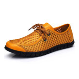 Men Breathable Mesh Casual Lace Up Oxford