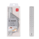 Deli 79532 4pcs/set Metal Ruler Aluminum Alloy Drawing Measurement Geometry Ruler Stationery School Office Supplies