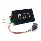 DC6-60V 30A PWM Controller Speed Percentage Indicator Digital LED RPM Meter for DC Motor RPM Digital Tachometer Display