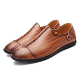 Men Lightweight Genuine Leather Flats