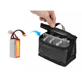 155x120x90mm Battery Safety Bag Fireproof Waterproof RC Lipo Battery Storage Bag for Luminous Handle