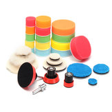 29pcs Polishing Pad Kit With M14 Thread Back Pad And Adapter For Polishing Waxing