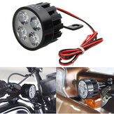 12V-80V DC 12W LED Light Motorcycle Scooter Bicycle Rear View Mirror Lamp