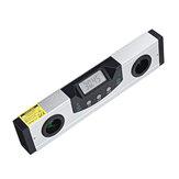 LCD Pantalla Digital Láser Regla de nivel Línea cruzada Protractor magnético Inclinómetro Nivel de ángulo electrónico