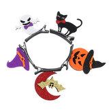 Branelli della forcella del partito di Halloween Cucchiaio della zucca degli accessori dei capelli del cappello dell'albero per il bambino